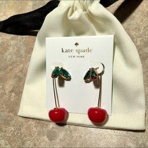Kate Spade ♠️ Gold-Tone Crystal Cherry Earrings